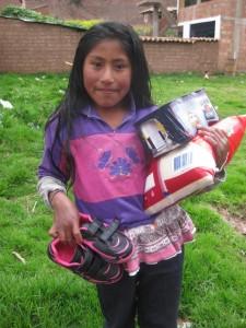 Chaussures et nourriture pour Katy Marta