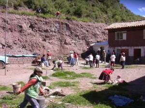 Construction de l'école asvin