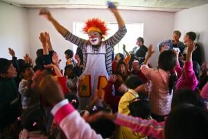 Les clowns débarquent à l'école
