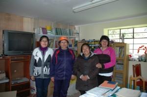 Maria, Margot, Maghali et Luz, institutrices de Mayubamba