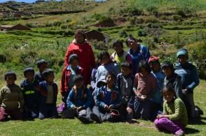 Un partie des élèves et professeurs de Mayubamba - 2016