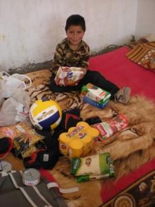 Distribution de nourriture chez Cristian