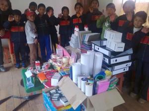 Don de matériel reçu à ASVIN
