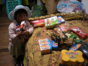 distribution de nourriture chez Julia