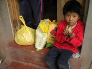 distribution de nourriture pour Noe