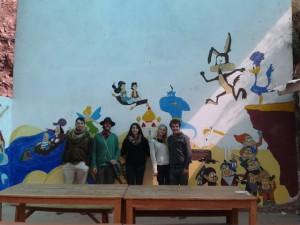 Merci aux artistes colontaires pour cette belle décoration murale